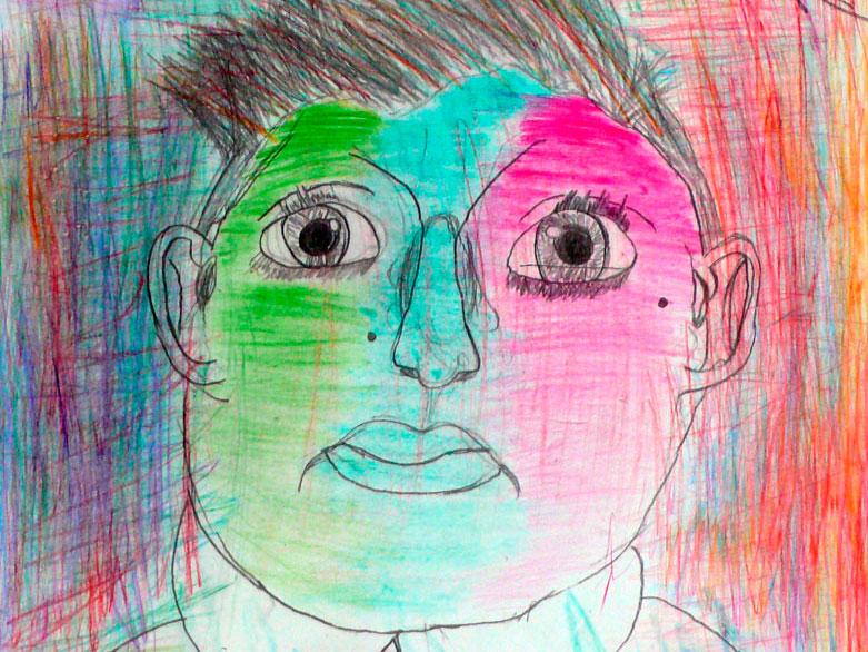 Dipingere dentro e intorno al volto
